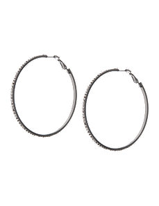 Cubic zirconium hoop earrings by Lane Bryant