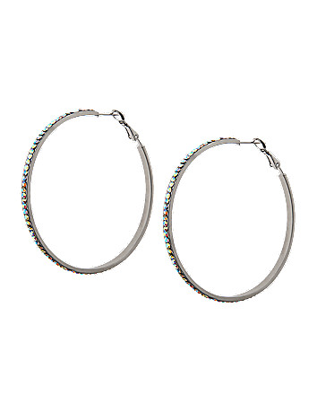 Faceted stone hoop earrings by Lane Bryant