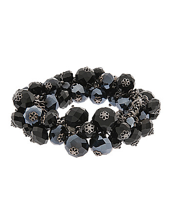 Faceted bead shaker stretch bracelet by Lane Bryant