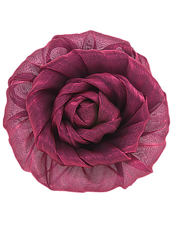 Metallic fabric flower pin by Lane Bryant