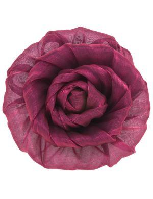 Metallic fabric flower pin by Lane Bryant