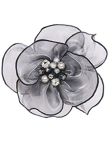 Faux pearl flower pin by Lane Bryant