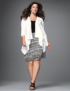 Zebra short knit skirt by LANE BRYANT