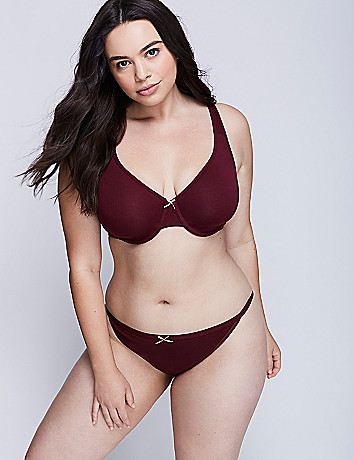 Plus size cotton full coverage bra