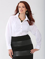 Plus Size Non Iron Button Up Shirt