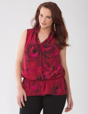 Lane Collection petal print blouse