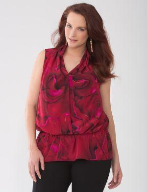 Lane Collection petal print blouse