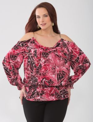 Lane Collection cold shoulder blouse