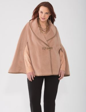 Lane Collection faux camel cape