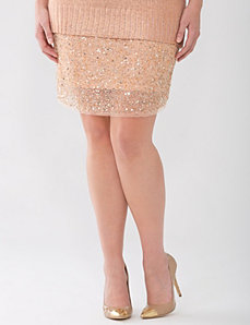 Lane Collection glitterati skirt by Lane Bryant