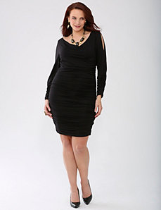 Plus Size Lane Collection Shirred Dress