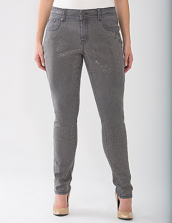 Lane Collection Studded Gray Skinny Jean