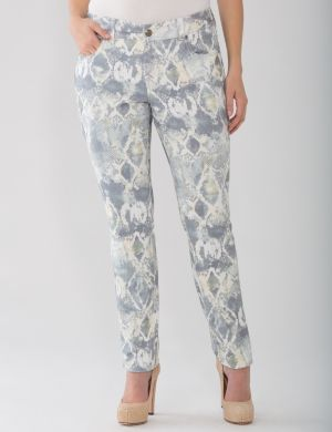 Lane Collection snake print skinny jean
