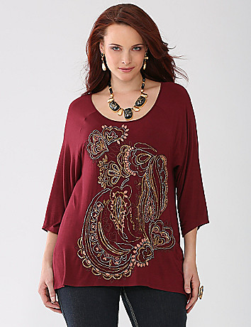 Plus Size Embellished Tunic by Lane Bryant