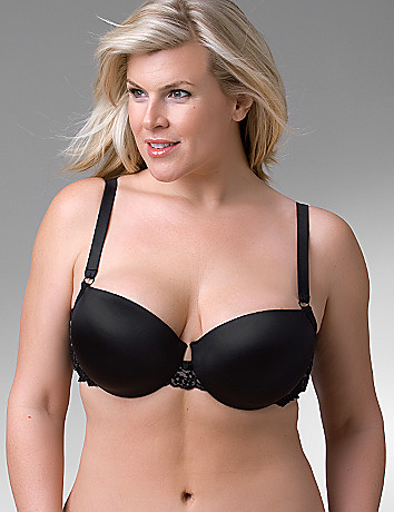 Full figure push up demi bra