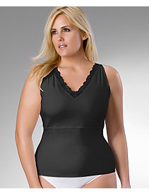 Plus size Spanx Sleek Lace Trim Cami