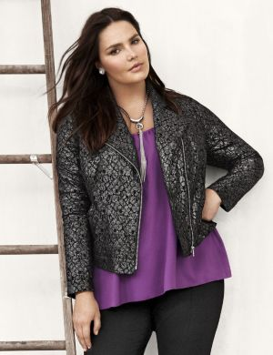 Lane Collection lace moto jacket