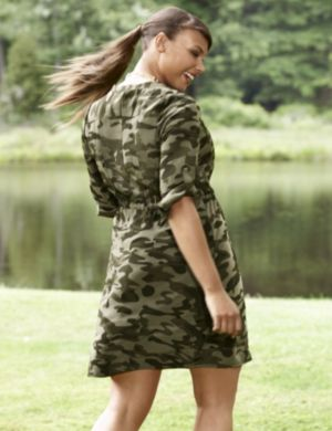 Camo soft shirt dress