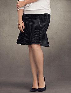 Pinstripe fluted skirt
