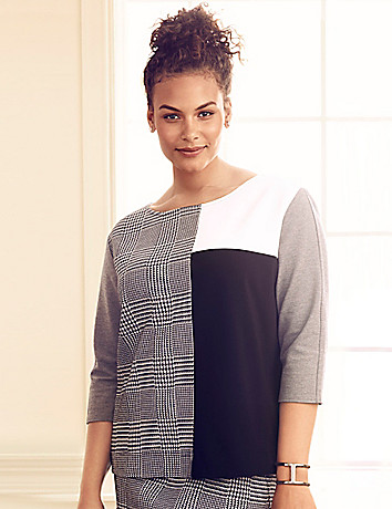 Colorblock modern sweatshirt
