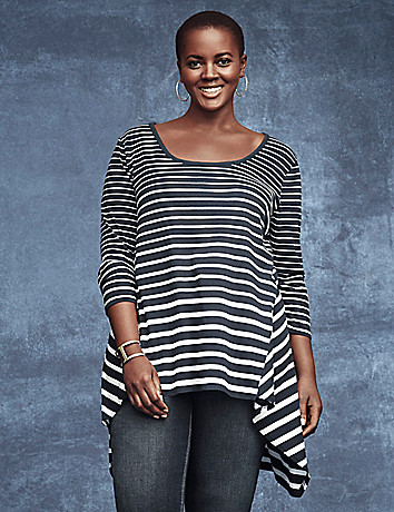 Striped knit tunic