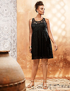 Sleeveless lace illusion dress by LANE BRYANT
