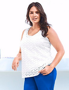 Eyelet shell by LANE BRYANT