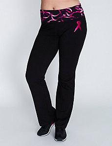 Printed waistband yoga pant