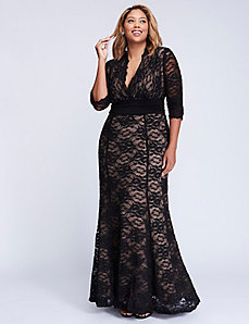 Screen siren lace gown by Kiyonna
