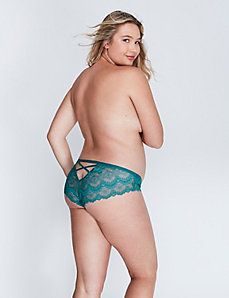 Lace Cheeky Panty with Strappy Back