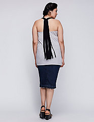 6TH & LANE Fringe Racerback Tank