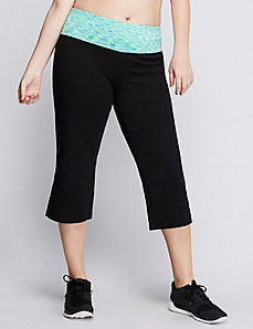 Signature Stretch yoga capri with printed waist
