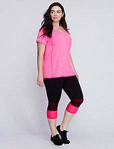 Wicking active tee