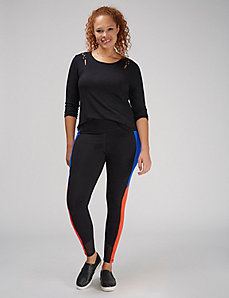 Wicking Colorblock Active Legging
