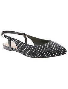 Polka dot sling back flat