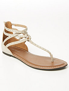 Studded T-Strap Gladiator Sandal