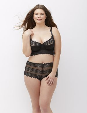 Geo Lace Longline French Balconette Bra
