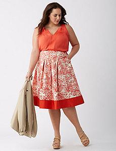 Full Skirt with Colorblock Hem