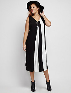 Flowy V-Neck Midi Dress