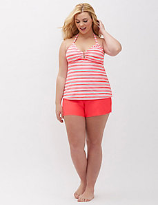 Halter Ring Swim Tank with Built-In No-Wire Bra