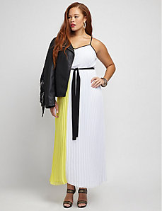 Micropleat Maxi Dress