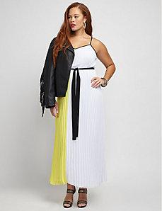 Micropleat Maxi Dress