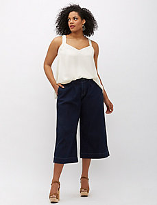 6th & Lane Pleated Denim Culotte