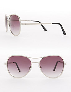 Chain-Textured Aviator Sunglasses