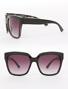 Oversized Sunglasses with Animal Print
