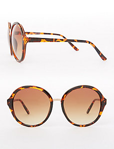 Tortoiseshell Round Frame Sunglasses