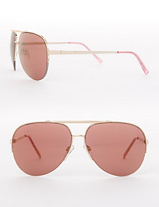 Pink Lens Aviator Sunglasses