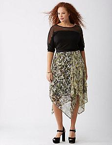 Handkerchief-Hem Midi Skirt