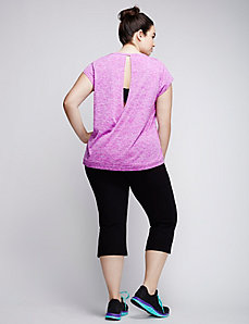 Active Tee with Open Back