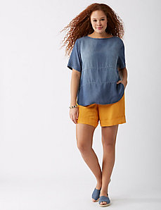 Pieced Chambray Tee